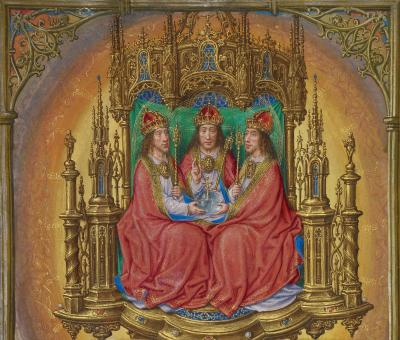 Master of James IV of Scotland Flemish before 1465 about 1541 The Holy Trinity Enthroned Google Art Project