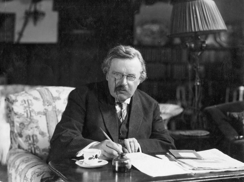 1280px G. K. Chesterton at work