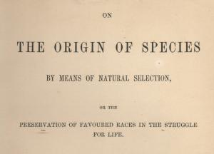 Origin of Species title page